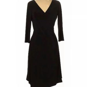 Tahari by ASL Womens' Black Wrap Dress Size 6
